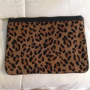 Banana Republic leopard clutch